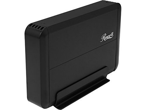 USB 3.0 3.5 SATA External Hard Drive Enclosure (Black) - 3
