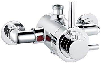 ENKI grifo mezclador con v/álvula termost/ática exterior salida de 1//2