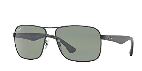 Matte Black Frame Green Lenses - Ray-Ban Polarized RB3516 Sunglasses - Matte Black Frame/Green Lens