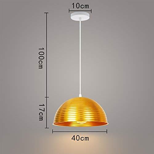 UON Gzz Deng Home Außenbeleuchtung Pendelleuchte Schatten Industrielle hängenden Deckenleuchte Kronleuchter Rund 40 cm A-5677 Wohnzimmer Restaurant Schlafzimmer Beleuchtung