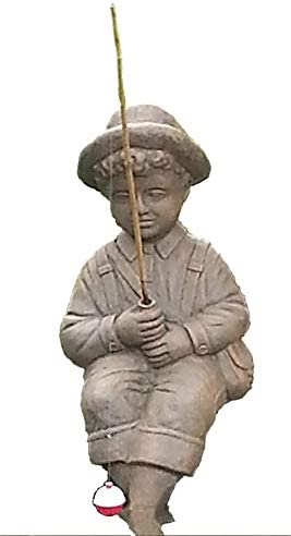 Fishing Boy Cast Stone Statue