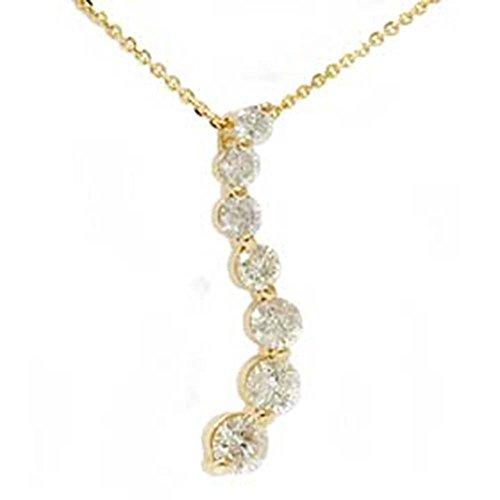 Ct 1/2 Diamond Journey Pendant - 1 1/2ct Real Diamond Journey Pendant 14K Yellow Gold New