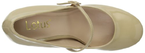 Lotus Serenoa 50321 - Zapatos de tacón para mujer Beige (Nude Shiny)