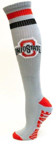 NCAA Ohio State Buckeyes Tube Socks, One Size, Grey ()