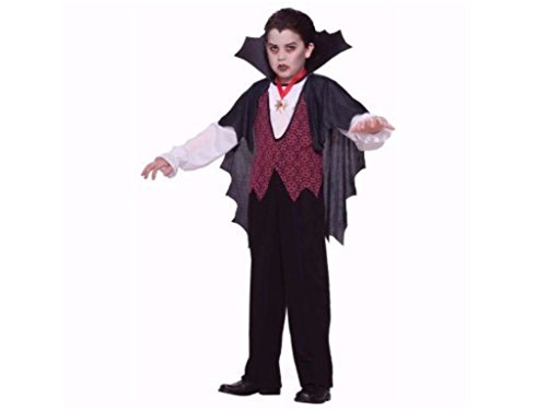 Boys Vampire 2 Piece Halloween Costume M (8-10)
