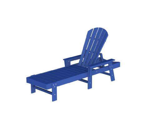 South Beach Chaise Lounge Frame Color: Pacific Blue