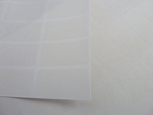 54 Plain Matt Clear Labels 40x20mm (1.6