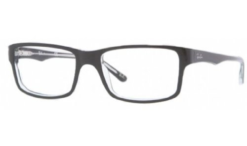 Ray-Ban Mens Rx5245 Square EyeglassesTop Black & Transparent54 mm