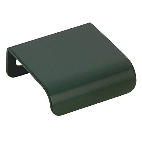 Richelieu Hardware - BP39660900 - Contemporary Metal Edge Pull - 3966 - 25 mm - Matte Black  - Edge Finish Black