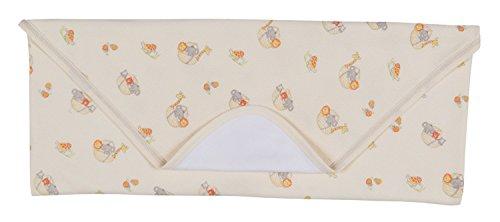 Kissy Kissy Unisex-Baby Infant Mini Ark Print Receiving Blanket-Yellow-One ()