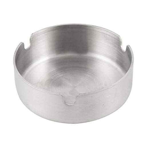 Coffee Bamboo - Phfu Wholesale 5pcs Home Silver Tone 8cm Dia Stainless Steel Round Cigarette Ashtray - Cigarette Outside Ashtrays Home Purifier Wall Ashtray Plastic Odor Commercial Bucket Skull