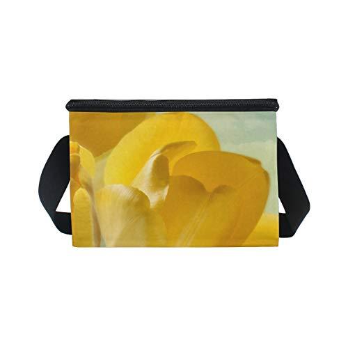 à refroidisseur Superbe nique lunch Boîte pique Bandoulière Sac à déjeuner pour Tulipes Jaune qgwPXcZw