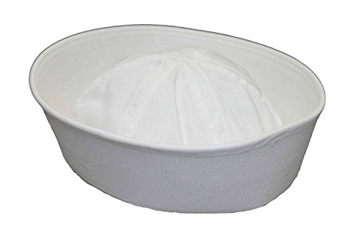 Genuine Issue GI White Military US Navy Cotton GOB Sailor Hat (7 1/2) -