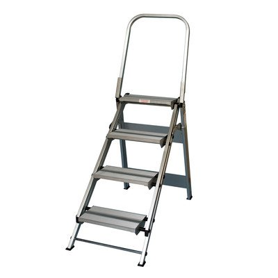 4 ft Aluminum Folding Safety Step Ladder with 375 lb. Load Capacity by Xtend & Climb