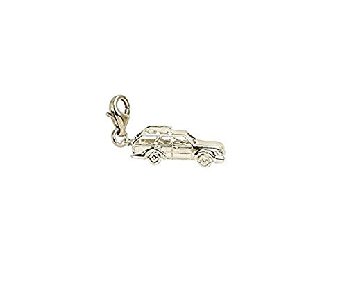 - 14K Yellow Gold Station Wagon Charm With Lobster Claw Clasp, Charms for Bracelets and Necklaces