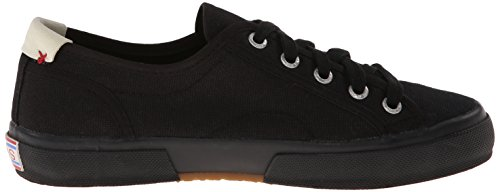 Skechers Womens Le Club Brentwood Lace Up Sneaker Black/Black 5F55x9