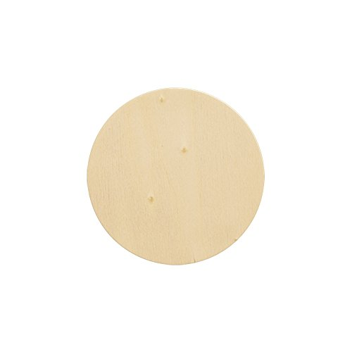 Natural Unfinished Round Wood Circle Cutout 3 Inch - Bag of 25