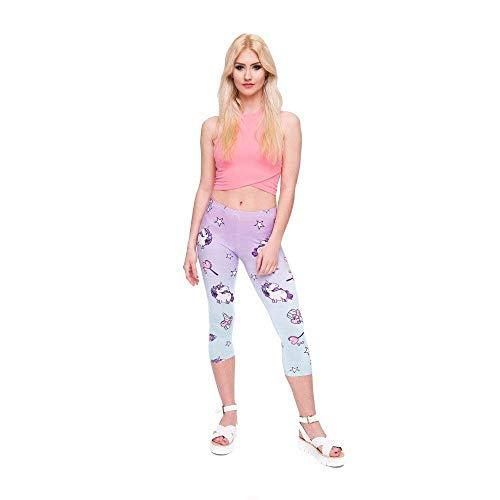 A Fitness Verano Con Estilo Lgc45795 Media Mujer Pantalones Pantorrilla Estampado Pingrog Leggings Único Ejercicio Yoga 3 Capri 4 De Unicornio w4Tx8qn7