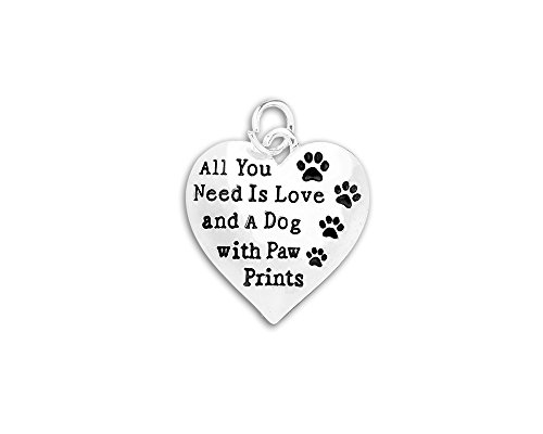 All You Need Is Love Dog Charms (Wholesale Pack - 10 (Wholesale Dog Charms)