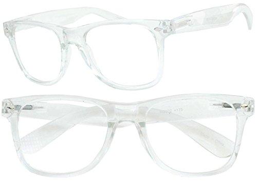 13d1ced78794e Clear Wayfarer Prescription Reading Glasses