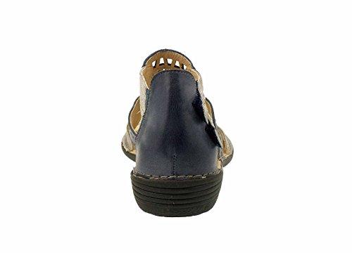 Dorking - Sandalias de vestir para mujer azul marino