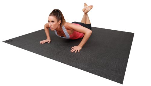 Large YOGA Mat. Extra Long, Extra Wide 72-Inch X 72-Inch (6 ft x6 ft) & 6mm Thick. The BIG Yoga Mat - 3X Larger Than A Standard Sized Yoga Mat. For Yoga & Stretching Without Shoes. Square36. by Square36 (Image #4)'
