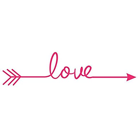 Hatop Love Arrow Decal Living Room Bedroom Vinyl Carving Wall Decal Sticker (Hot Pink) (Hot Pictures For Bedroom)