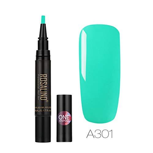 Longay Rosalind Newest 3 in 1 Gel Nail Varnish Pen Glitter One Step Nail Gel 24 Colors (K)