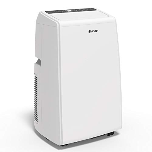 Shinco SPS5-08C 8,000 BTU Portable Air Conditioner Cool Fan Quiet Dehumidifier for Rooms Up to 200 Sq.Ft. LED Display, Remote Control, White