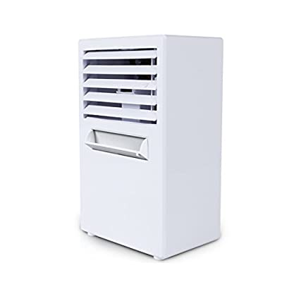Citus Portable Mini Air Conditioner,Quiet Personal Desk Cooling Fan,Air Circulator Cooler Humidifier for Bedroom Office-9.5 inches (White)