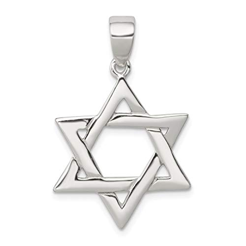 - 925 Sterling Silver Jewish Jewelry Star Of David Pendant Charm Necklace Religious Judaica Fine Jewelry Gifts For Women For Her