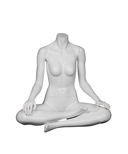 Newtech Display MAF-A1-YOGA3/WH Headless ''Ohm'' Sitting Yoga Mannequin, White by Newtech Display