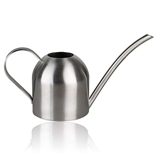 Liyahog Small Stainless Steel Watering Can Indoor Outdoor Metal Watering Pot with Long Spout for House Plants & Kids(15oz/500ml)