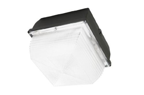 Designers Edge L-1789-70W-MH 70-Watt Metal Halide 9-Inch by 9-Inch Square Outdoor Wall or Ceiling Fixture (Metal Halide Ceiling Fixture)