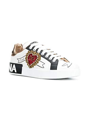 Ck1544az138hwt77 Dolce amp; Donna Bianco Pelle Gabbana Sneakers Sw7O6wq