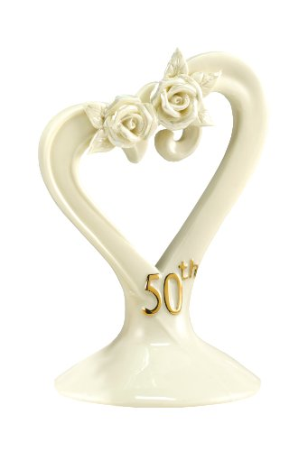 Hortense B. Hewitt Wedding Accessories 50th Anniversary Pearl Rose Cake (Porcelain Wedding Cake Top)