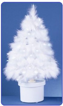 white christmas feather tree with led lights