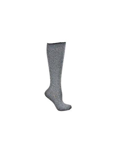Hue Women's Flat Knit Knee-High Socks, Graphite Heather, (Hue Knee High Socks)