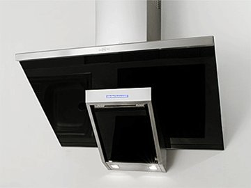 "Range Hood Wall Mounted Stainless Steel 24"" KA-146-BLG NT AIR. Made in Italy."