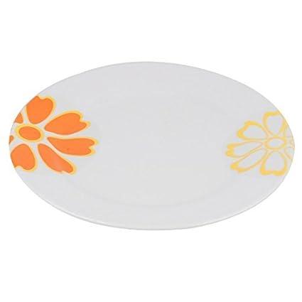 eDealMax melamina cocina del hogar de forma redonda de la bandeja de la placa de Alimentos