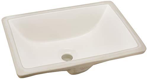 Nantucket Sinks UM-16x11-B 16-Inch x 11-Inch Rectangle Undermount Ceramic Vanity Bathroom Sink, Bisque