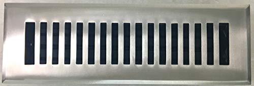Brushed Nickel Contemporary Floor Steel - Madelyn Carter Contemporary Floor Register (Solid Brass) Brushed Nickel 2