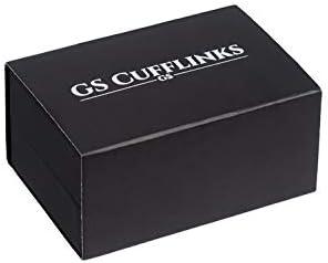 G/&S Bateau Navire H/élice Boutons de manchette pour homme en or ou argent Couleur/ /en GS Bo/îte /à boutons de manchettes
