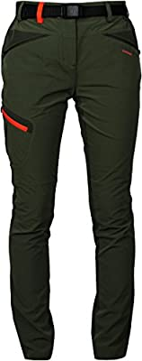 Angel Cola Women's Outdoor Hiking Softshell Zippered Pants PW6114