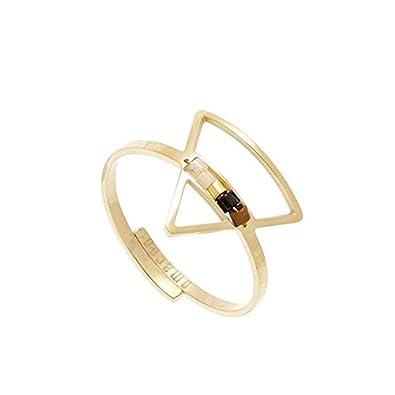 nouveau concept 1d636 de4b7 Bague triangle et perles (doré jaune), Omacoo: Amazon.fr: Bijoux