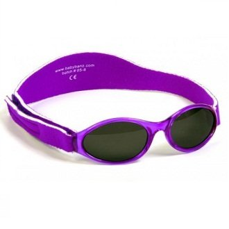 Baby BanZ: Adventure BanZ - Baby: Paradise Purple | 100% UV Protection | Age: 0-2 - Sunglasses Free Replacement