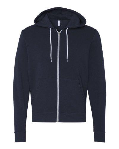Bella 3739 Unisex Poly-Cotton Fleece Full-Zip Hoodie - Navy, Small