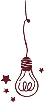 Ampoule Sticker Interrupteur Aspect Brillant Rouge Pourpre