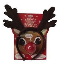 Rudolph Headband and Light-Up Nose -