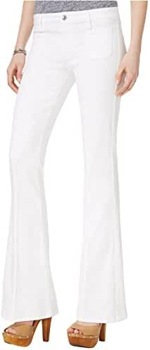 Guess Women's Charlotte White Wash Flared Jeans